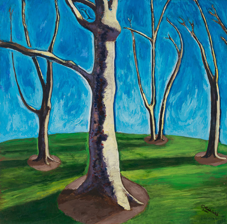 24 x 24 Bare Trees on Green Grass.jpg