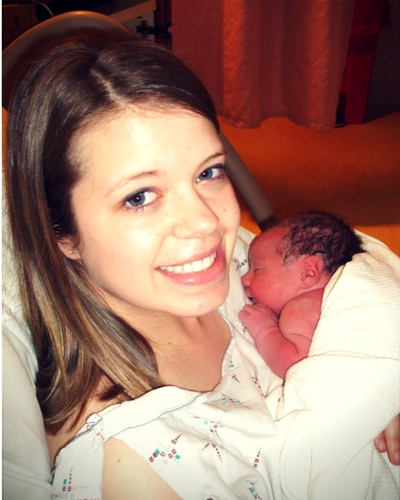 Abbey, a full time student at BYU-Idaho at the time, had her baby in place of taking a final at the end of the semester;her baby girl just couldn't wait!