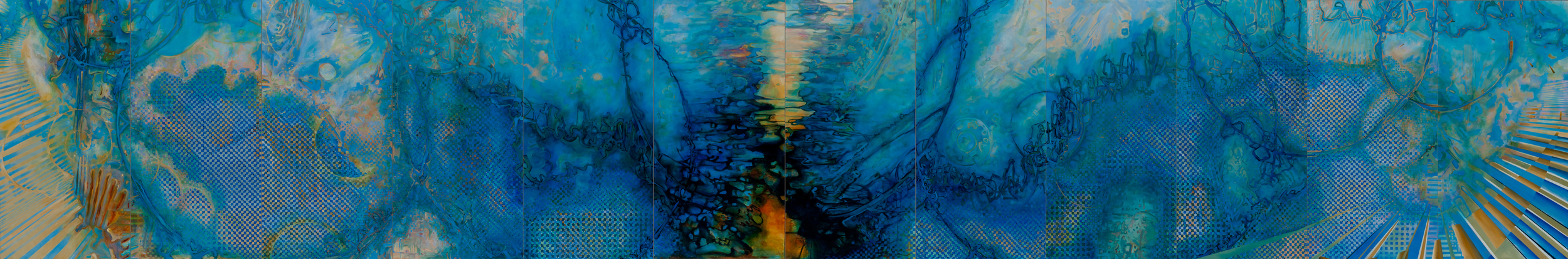 Tropos, Acrylic on Canvas, 8' by 48', 2011