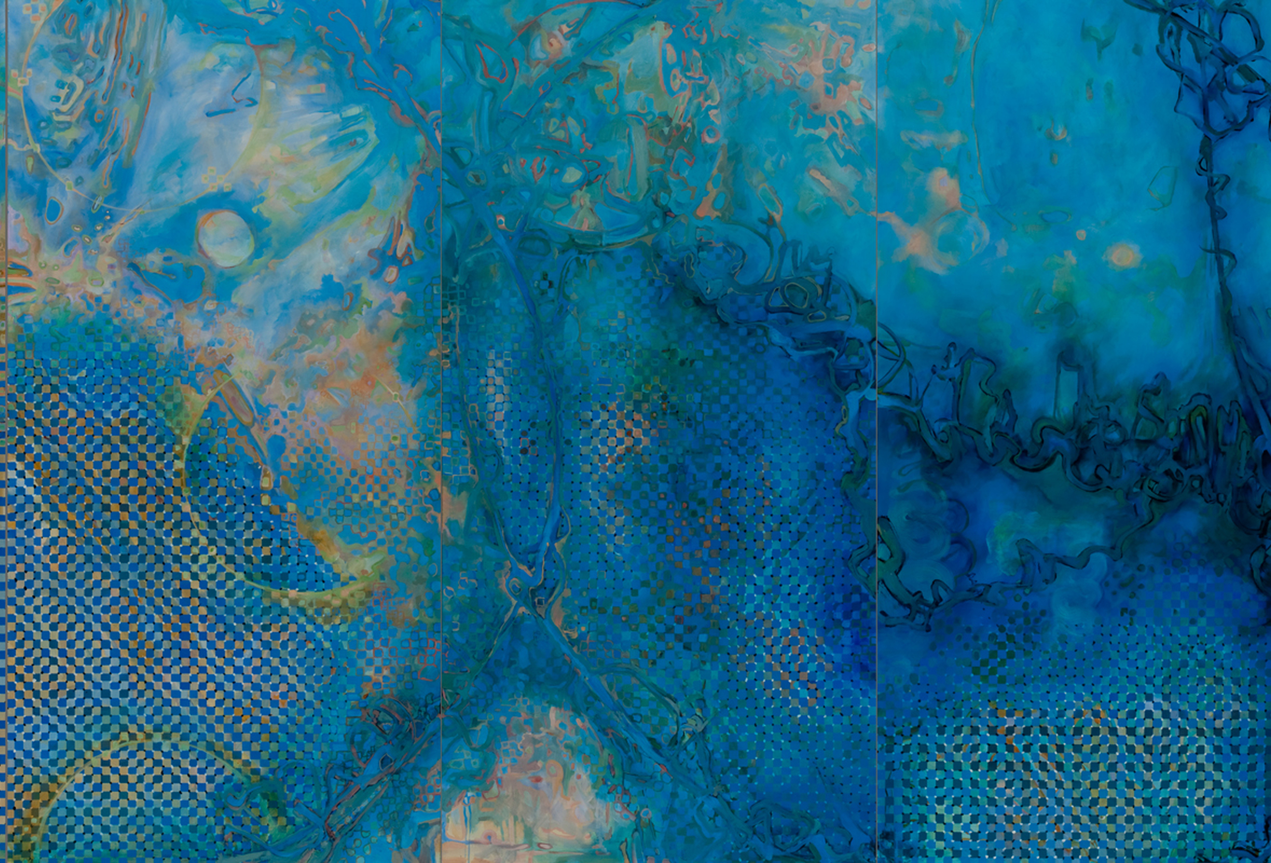 Tropos (Panel 3-5), Tropos, Acrylic on Canvas, 8' by 48', 2011