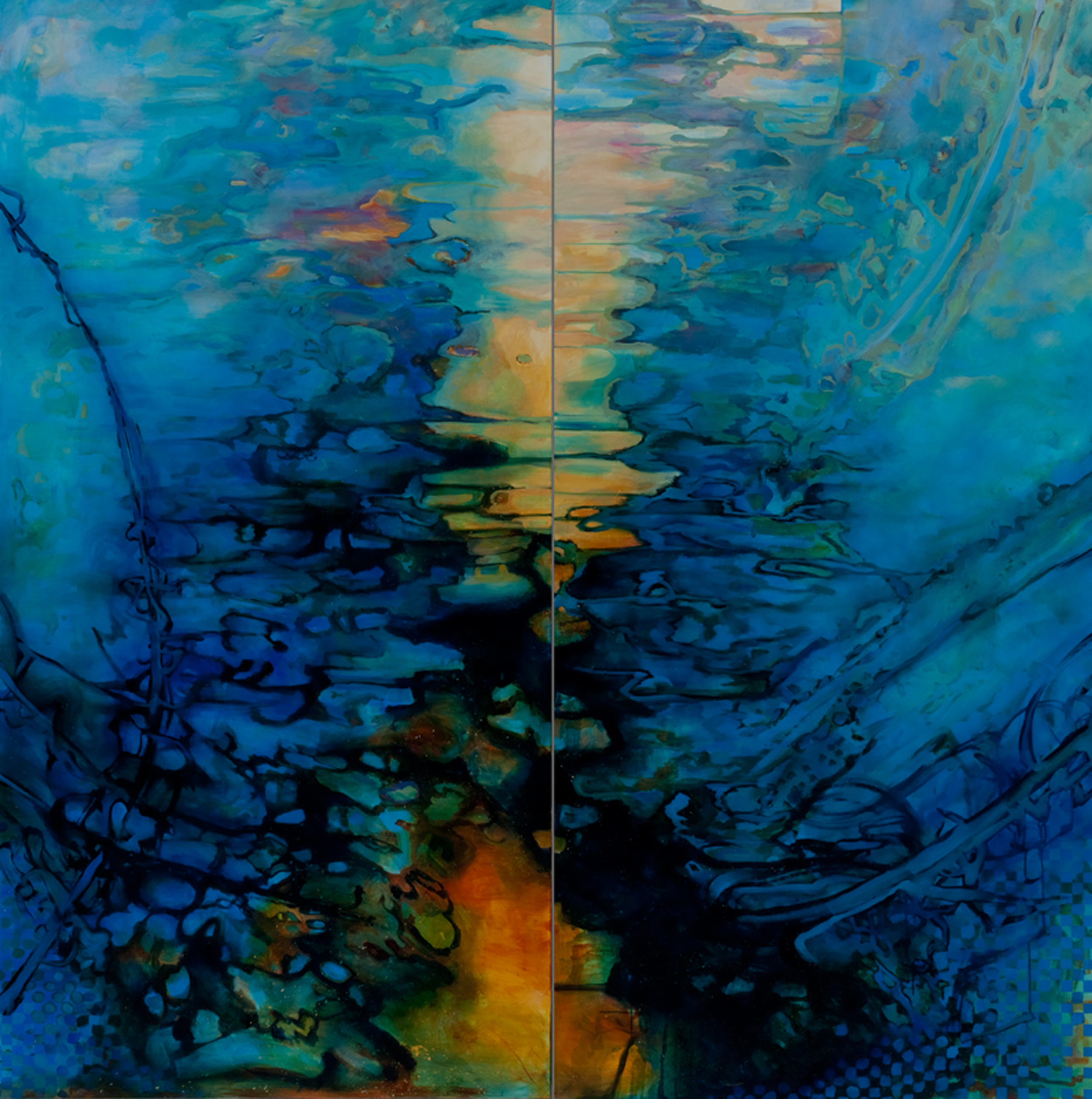 Tropos (Panel 7-8), Tropos, Acrylic on Canvas, 8' by 48', 2011