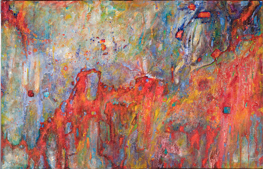 "Aria - Gabriel, Acrylic on Canvas, 30"" by 40"", 2007. SOLD"