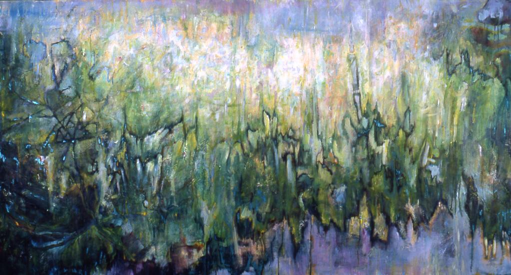 "Turangalîla, Acrylic on Canvas, 40 by 80"", 2005. SOLD"