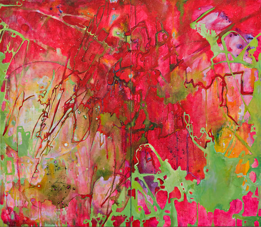 "Mahler - September, Acrylic on Canvas, 47"" by 54"", 2008. SOLD"