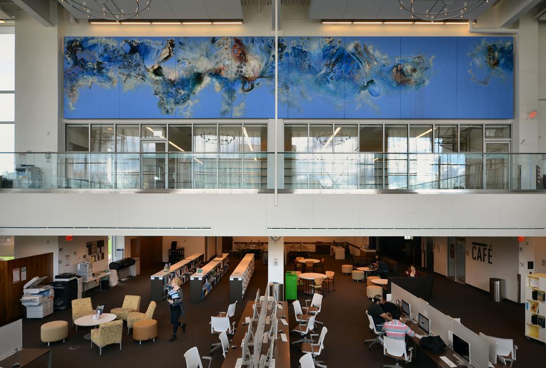 """Cloud"" installed at the Hans W. Klohn Commons, University of New Brunswick, Saint John, Canada. Photo by John Leroux"