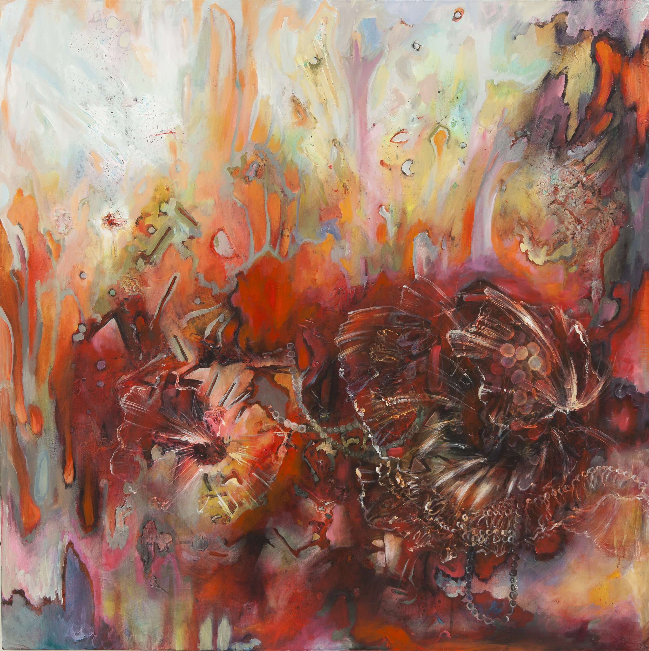 """Veil, Acrylic on Canvas, 48"""" by 48"""", 2013. SOLD"""