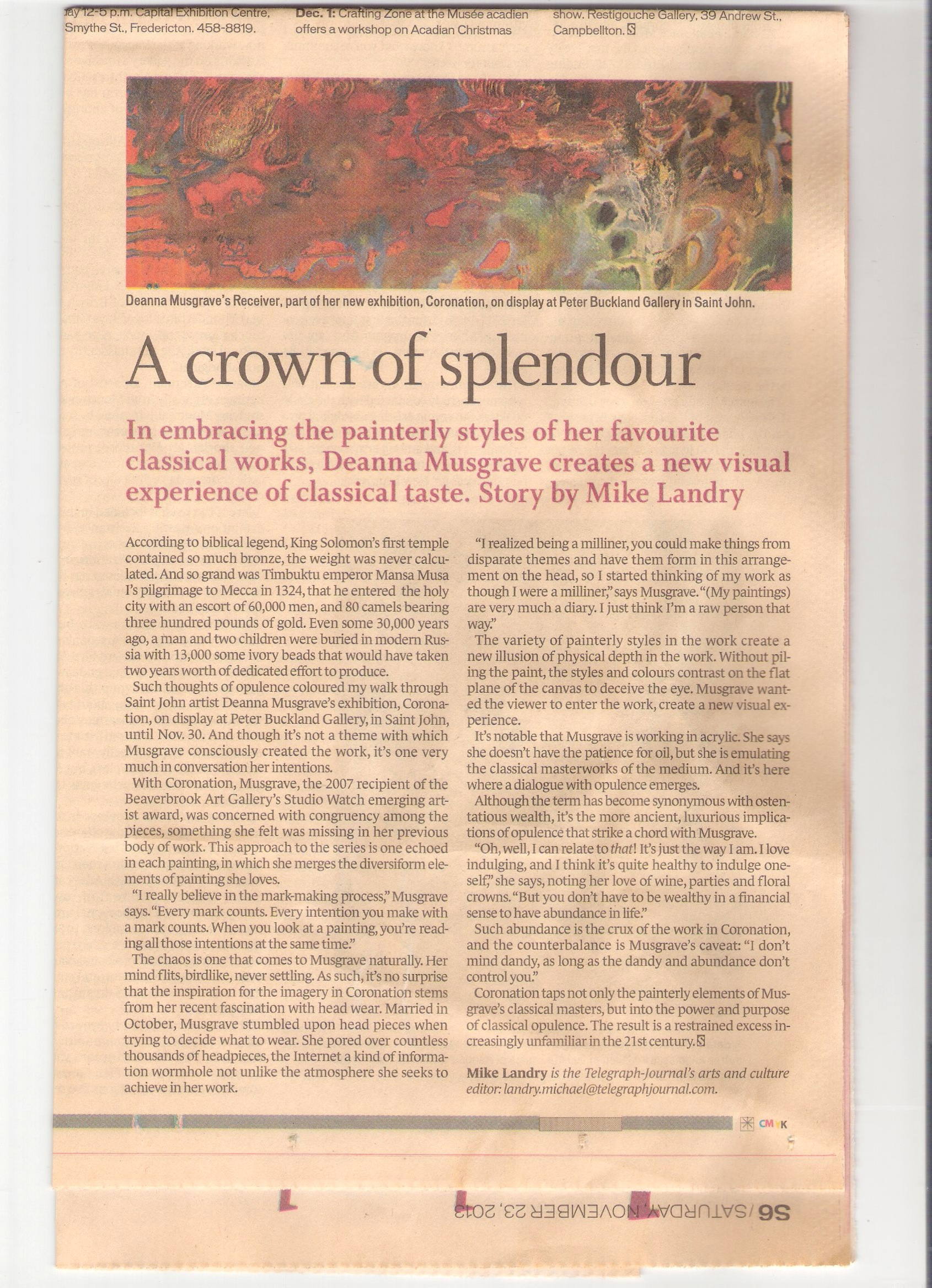 2013 -Mike Landry - Telegraph Journal