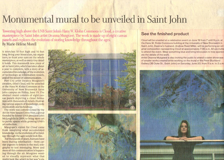 2015 - Marie-Helene Morell - Telegraph Journal