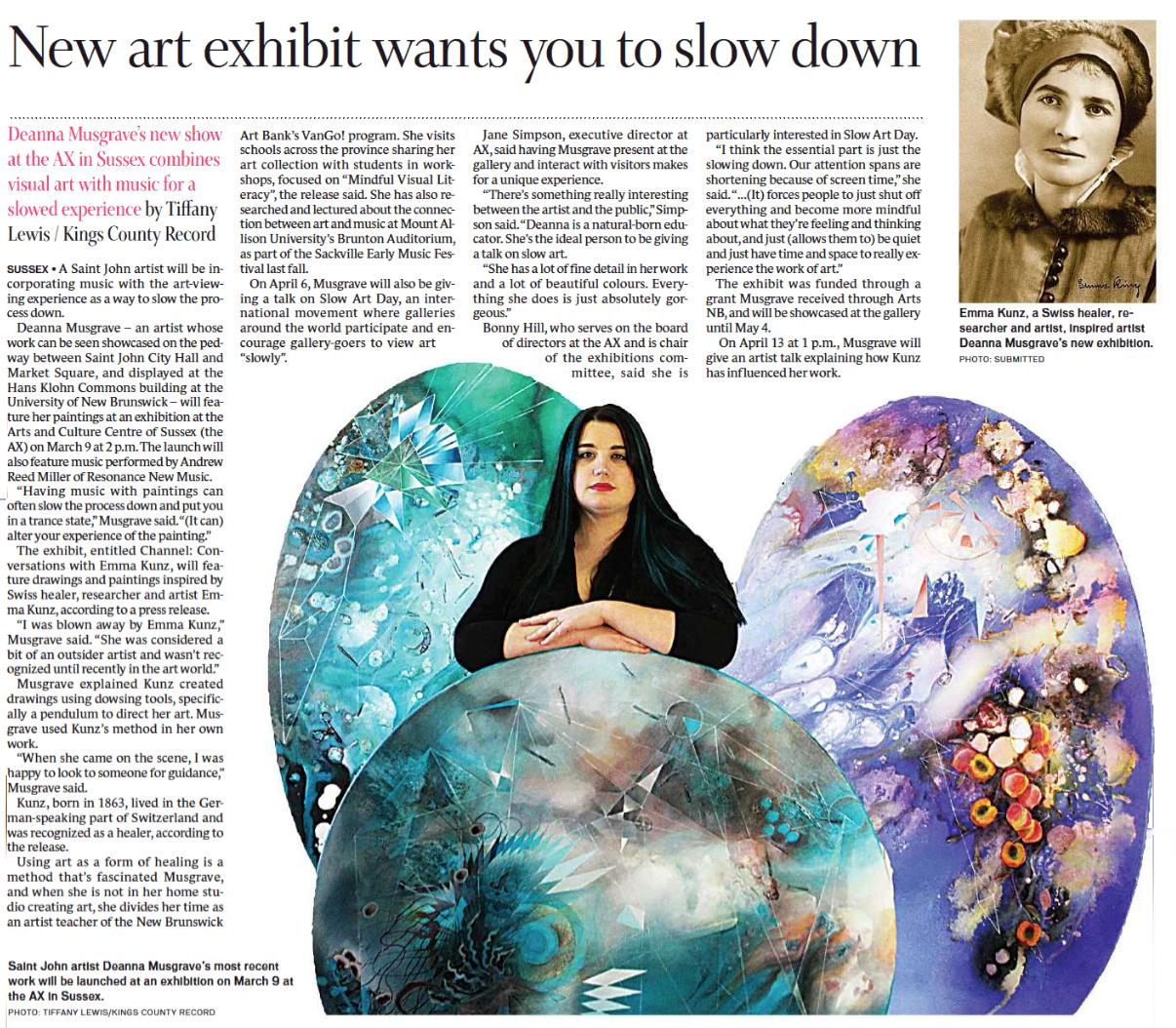 2019 - Tiffany Lewis - Salon, Telegraph Journal