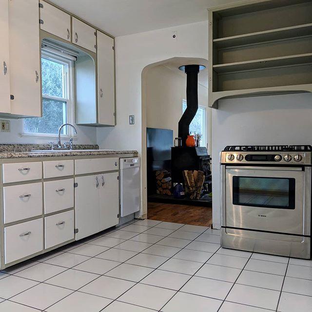 Fresh floor, counters & sink. #upgrades #kohler #itsallwhite