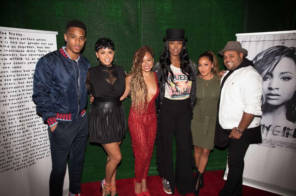 Kofi Siriboe,RaVaughn, Rhyon Brown, Tasha Smith Adrienne and Israel Houghton on the red carpet at The Know Contemporary for 'Pretty Girl' Screening.