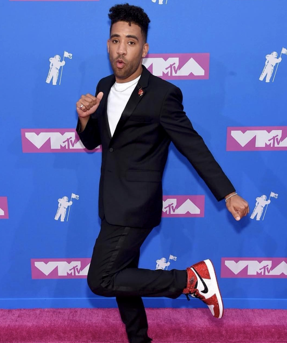 Recording Artist SuperDuperKyle at the MTV VMAs. Styled by Debbie Gonzales, Daniel Buezos and Maricel Meneses.