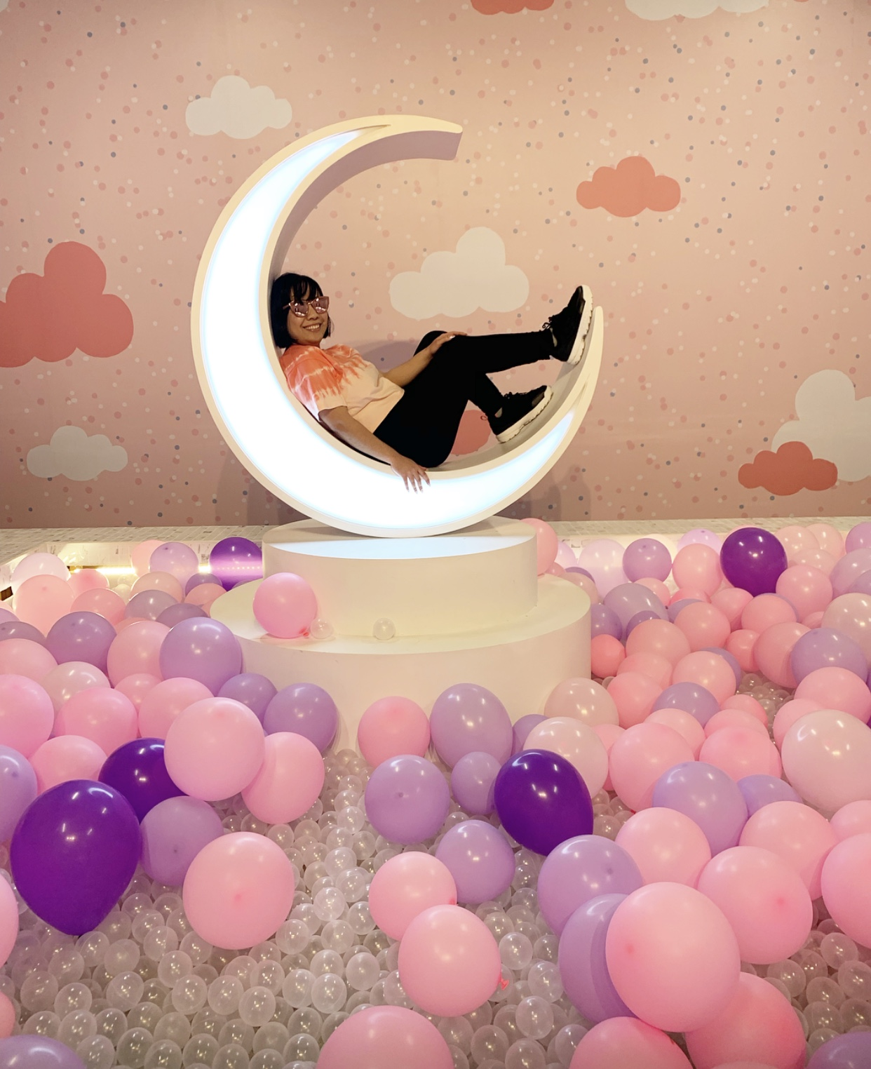 Definitely one of my favorite experiences was the balloon pool with the moon! Photo:  Kelli Wheeler