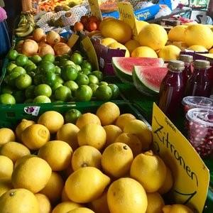 Obststand auf dem Isemarkt