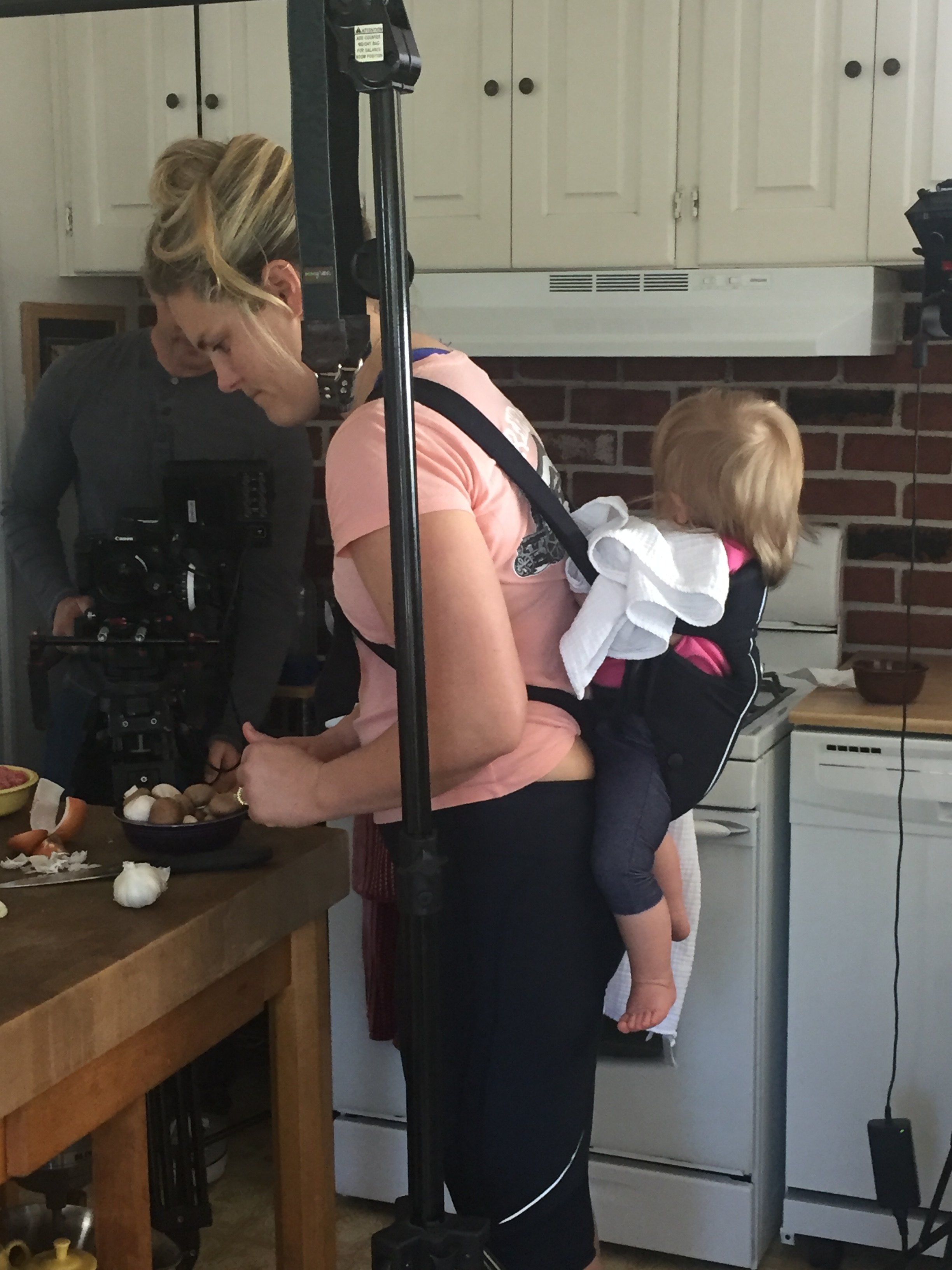 Me being a mom while shooting a recipe