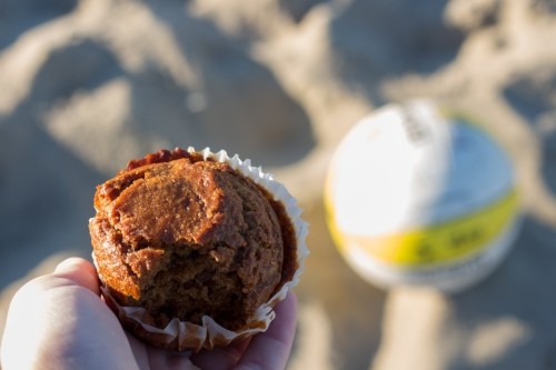 A healthy home made bran muffin.