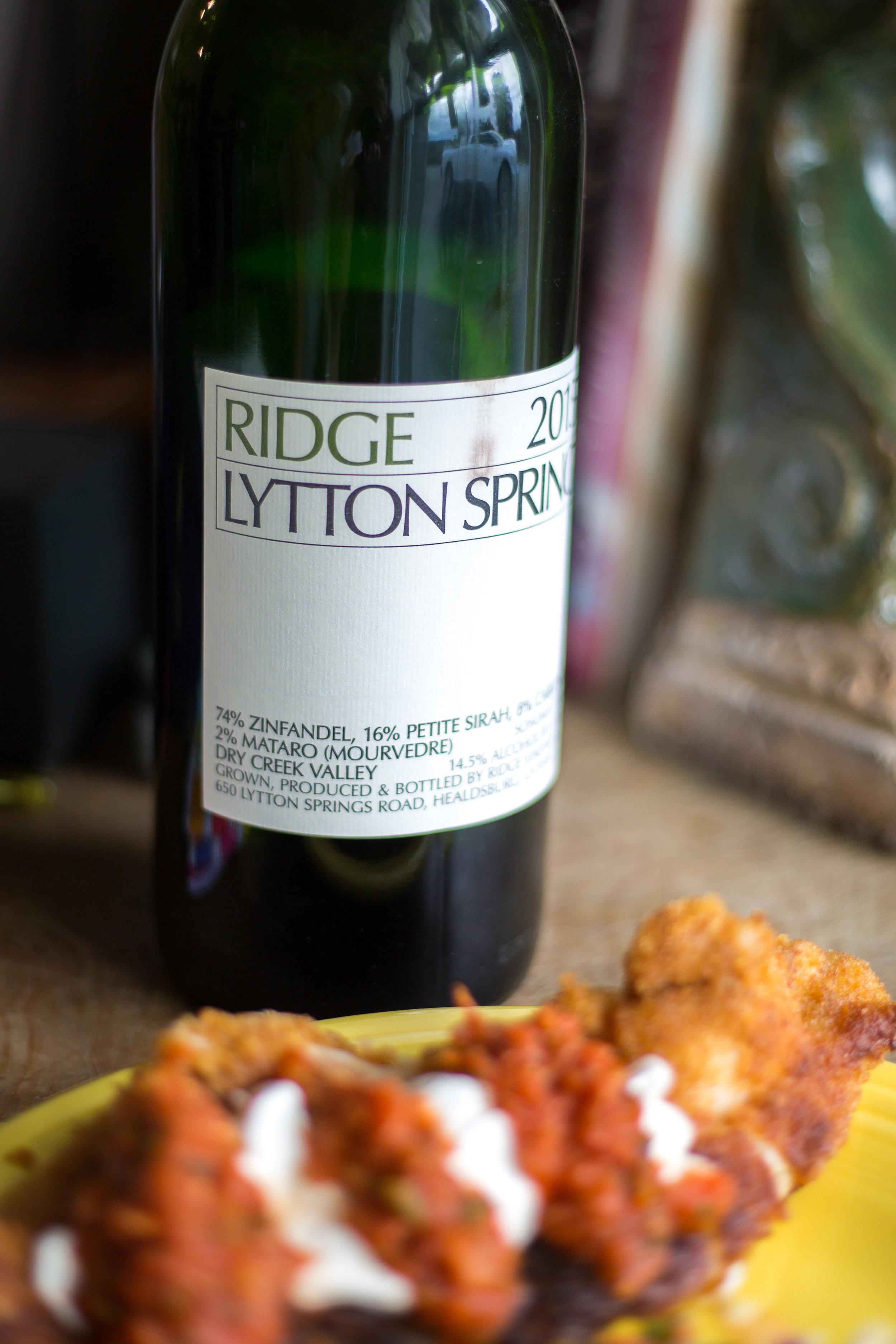 Ridge Lytton Springs Zinfandel wine