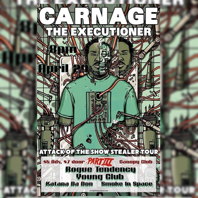 Ayyye show just announced at @canopyclub tickets are $5 right now so DM us and get ya one!