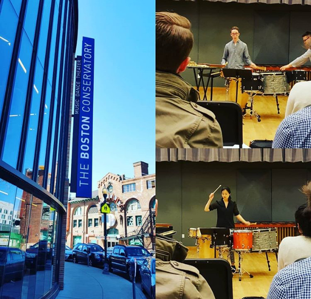 I met up with a Euphina Yap studying at Boston Conservatory and was got my percussion nerd on in a TROMP competition masterclass chaired by Nancy Zeltsman and Garrett Mendelow.