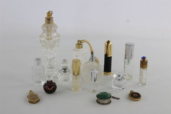 Vintage perfume bottles, Image Source Unknown
