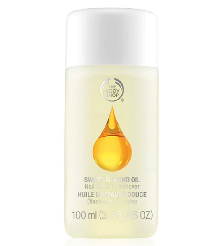 Almond oil polish remover by The Body Shop