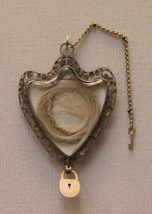 Gold locket with the hair of Marie Antoinette, from the British Museum archives