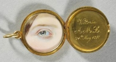 Queen Victoria's locket, given to her on her first birthday.