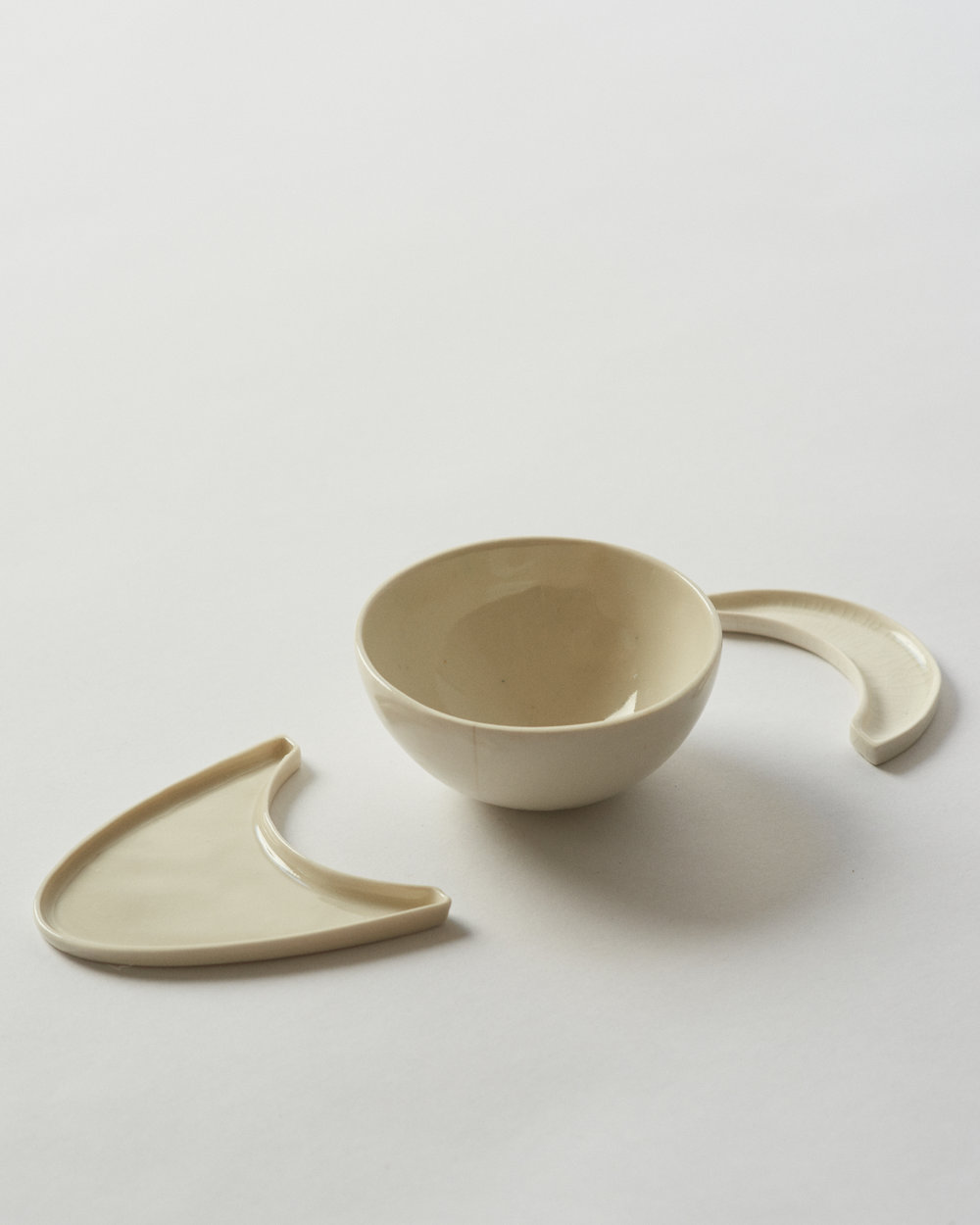 Handmade porcelain plates for an artful aperitivo display