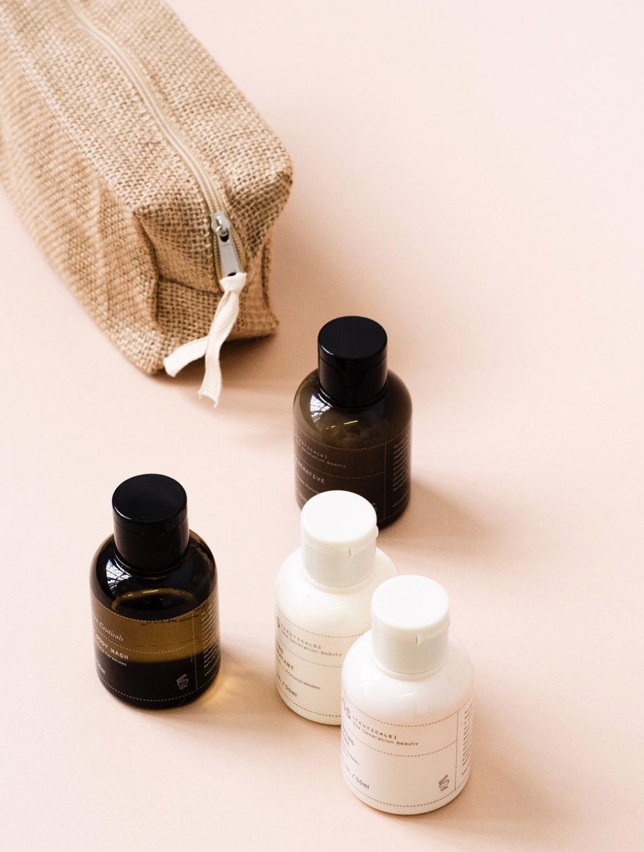 A travel kit of luxurious Australian skin + bath products