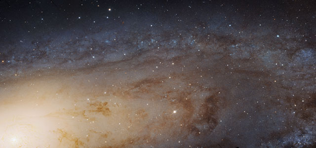 A tiny version of the largest image ever taken of the Andromeda galaxy.