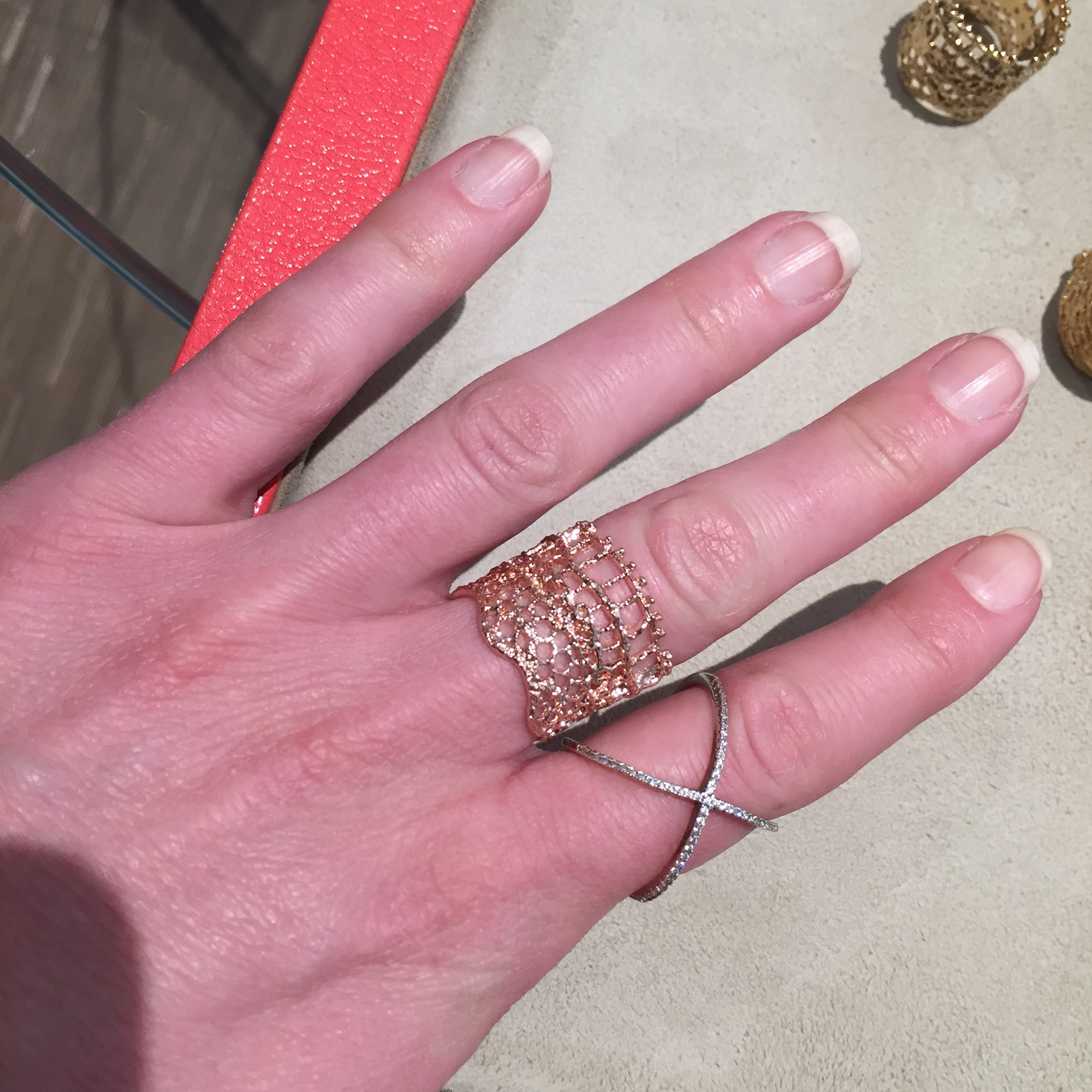 Vintage Lace Ring in rose gold