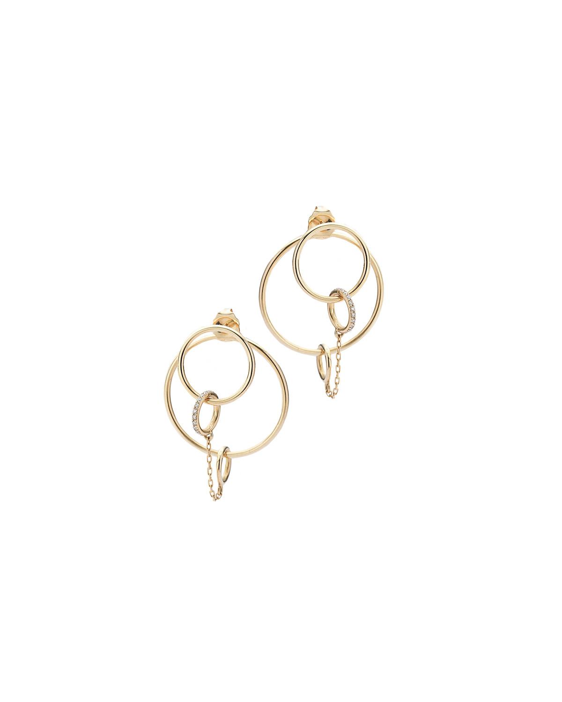 Petite Orbit Pave Earrings