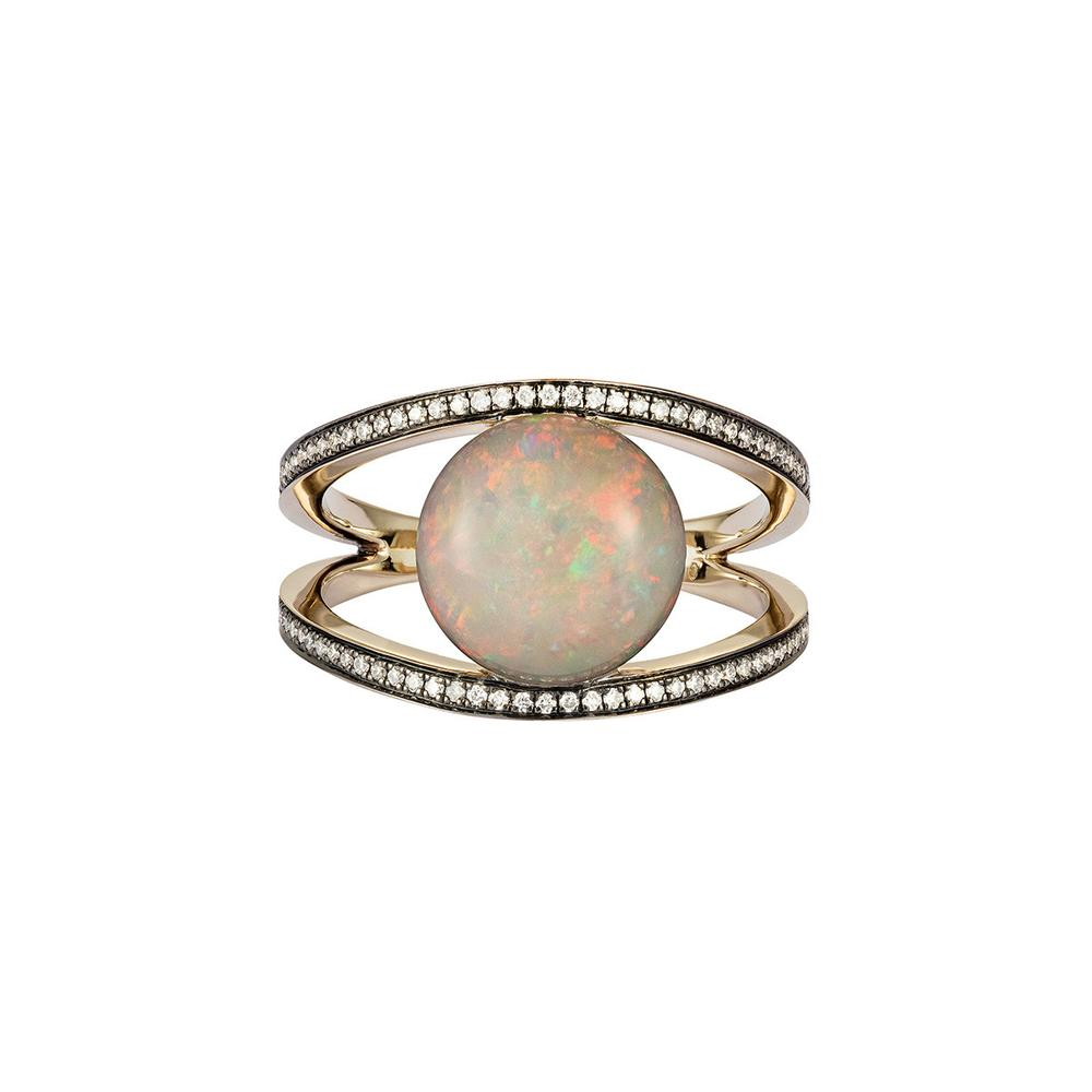 Opal Rhombus Ring