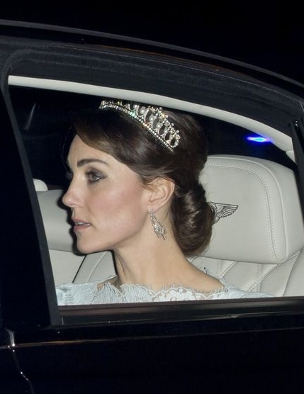 After the Lover's Knot tiara was returned, it wasn't seen publicly again until the Duchess of Cambridge wore it in 2015.