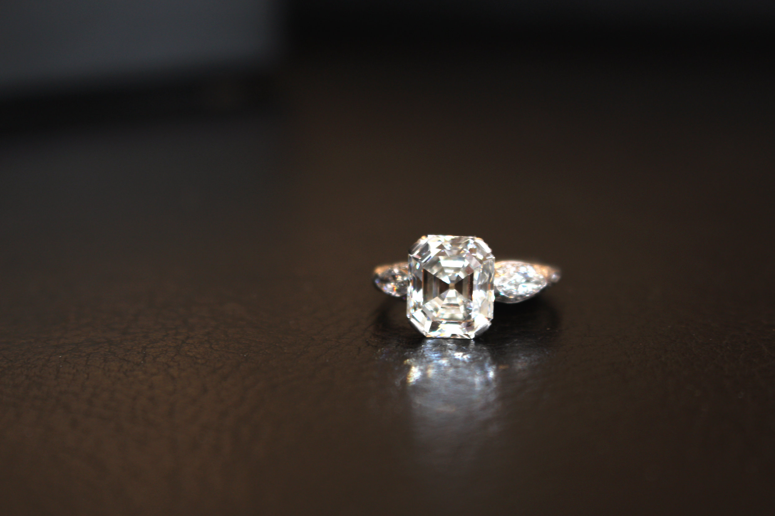 4.77 carat early Art Deco diamond ring