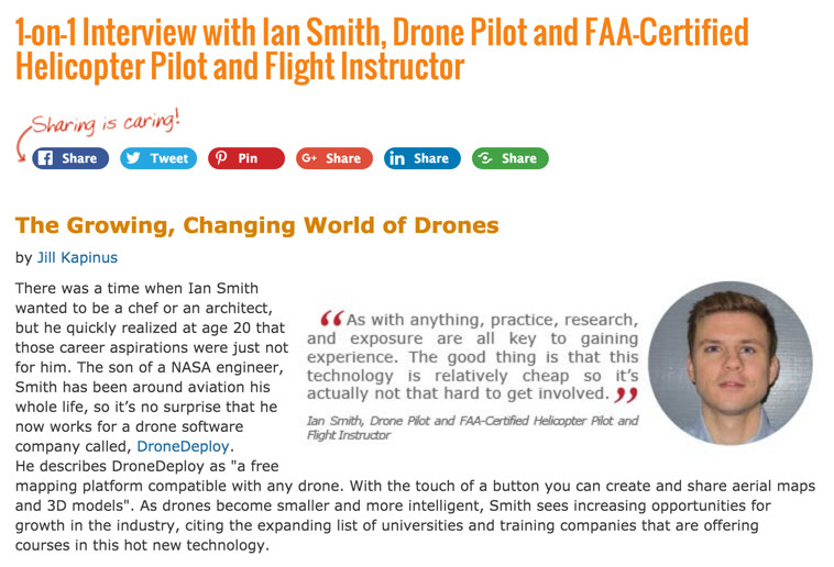 eLearners.com interview: The Growing, Changing World of Drones