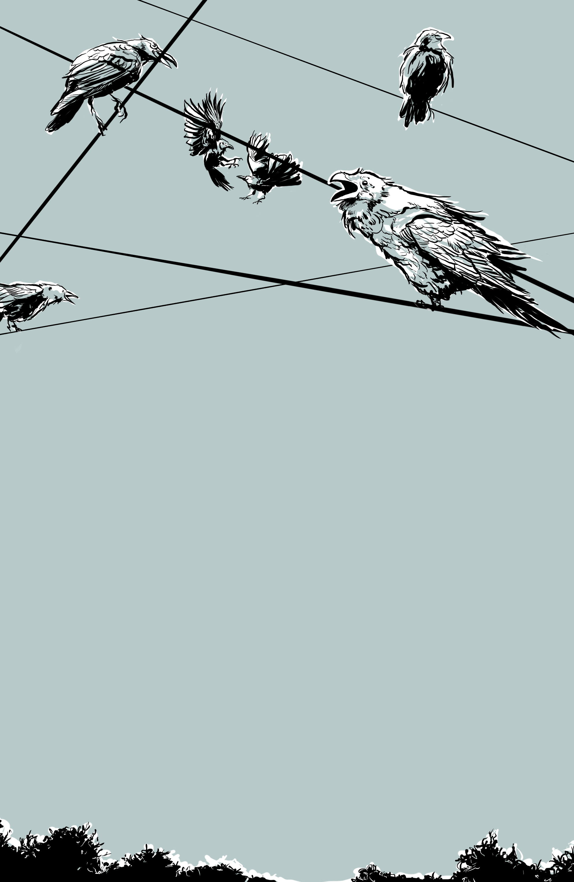 Untitled Crows (graphic novel in progress), Digital Illustration, Lisette Murphy, 2016