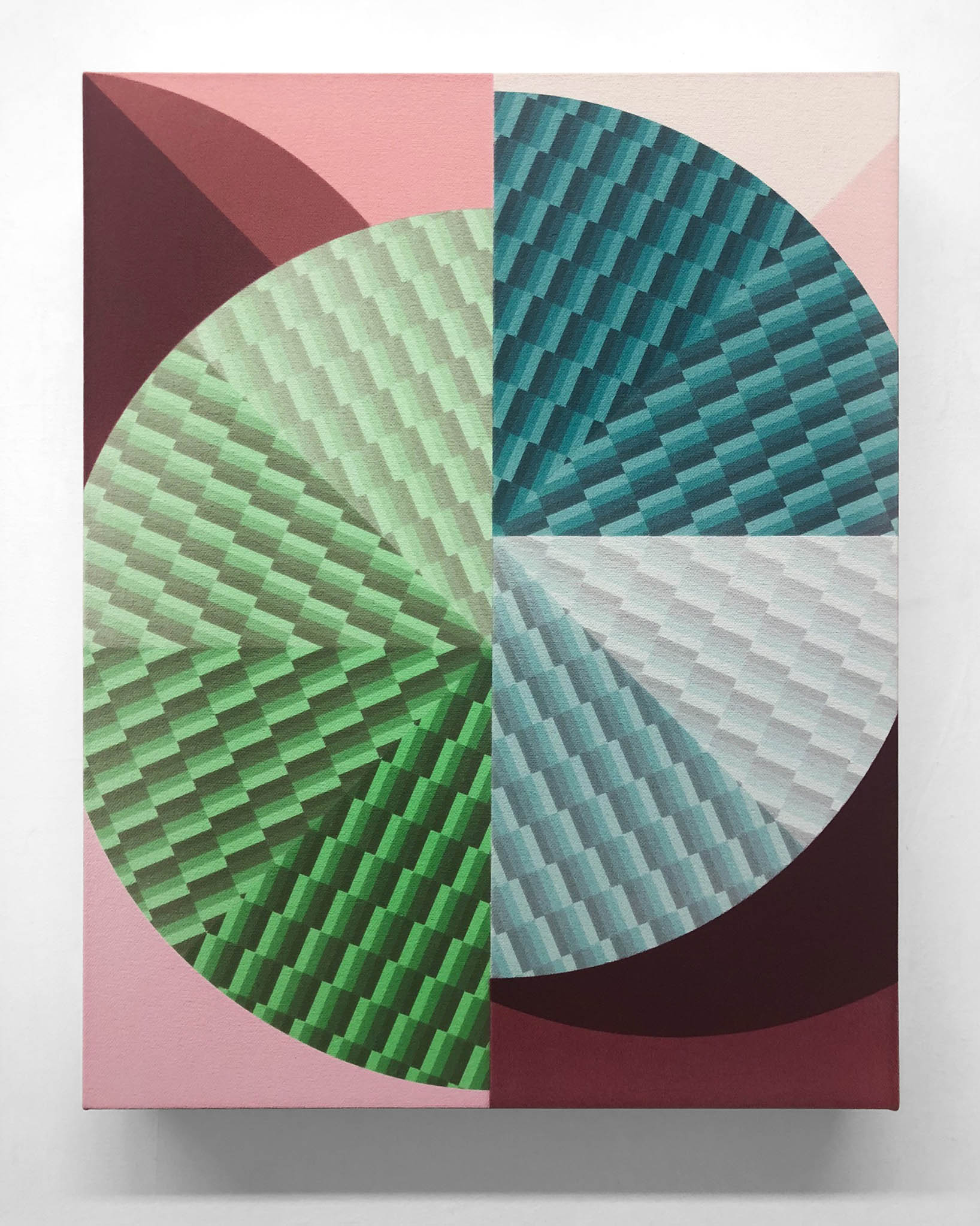 Tone Parallel Nº. 2  2019 Acrylic on canvas over panel 14 x 11 inches