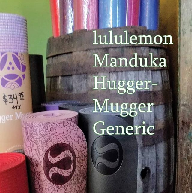 We now carry lululemon mats at both YS studios, as well as Manuka. Hugger Mugger and generic. Come get yours today!