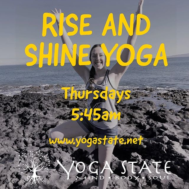 Check out our summer schedule at yogastate.net to see our new amazing teachers!  A new early Thursday morning yoga class! Spinning classes going strong. Stand up paddle board classes starting June 6th! Boards on sale ,rent ours, or bring your own! New lululemon mats and Onzie clothing, and of course plenty of Hydroflask colors. Bring your friends in to try our 2 week for $20 trial unlimited yoga and spin for new to Yoga State! Special summer deals coming this week, be sure you get the Yoga State app so you dont miss them!