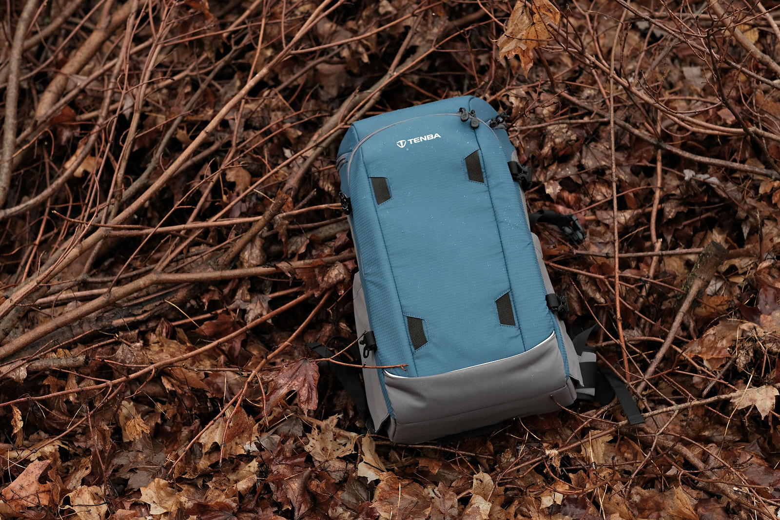 tenba solstice camera backpack in wet brush branches