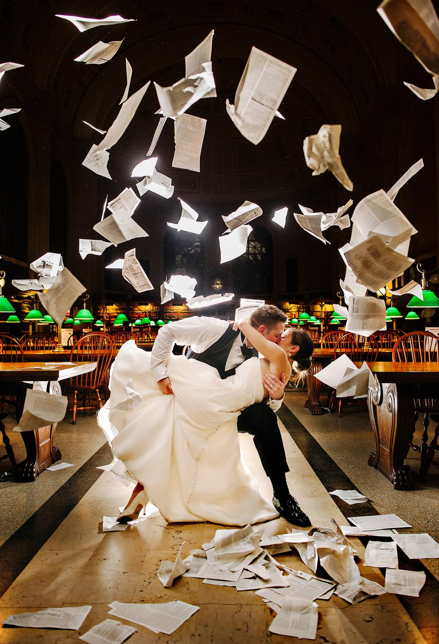 new-york-library-wedding-papers-thrown-in-the-air