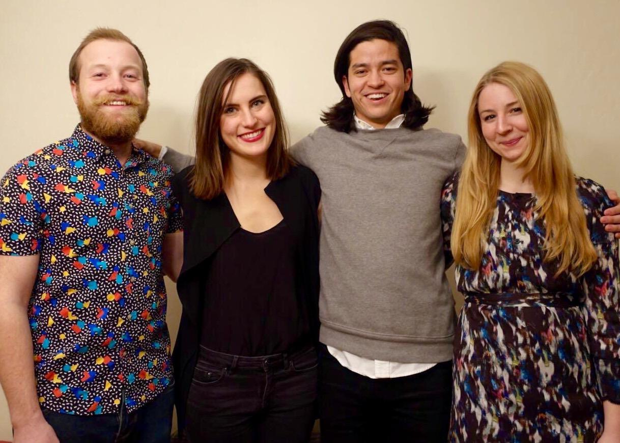 The Mixtales team pallin'around. L to R:Dane, Katie, Matthew &Michelle.