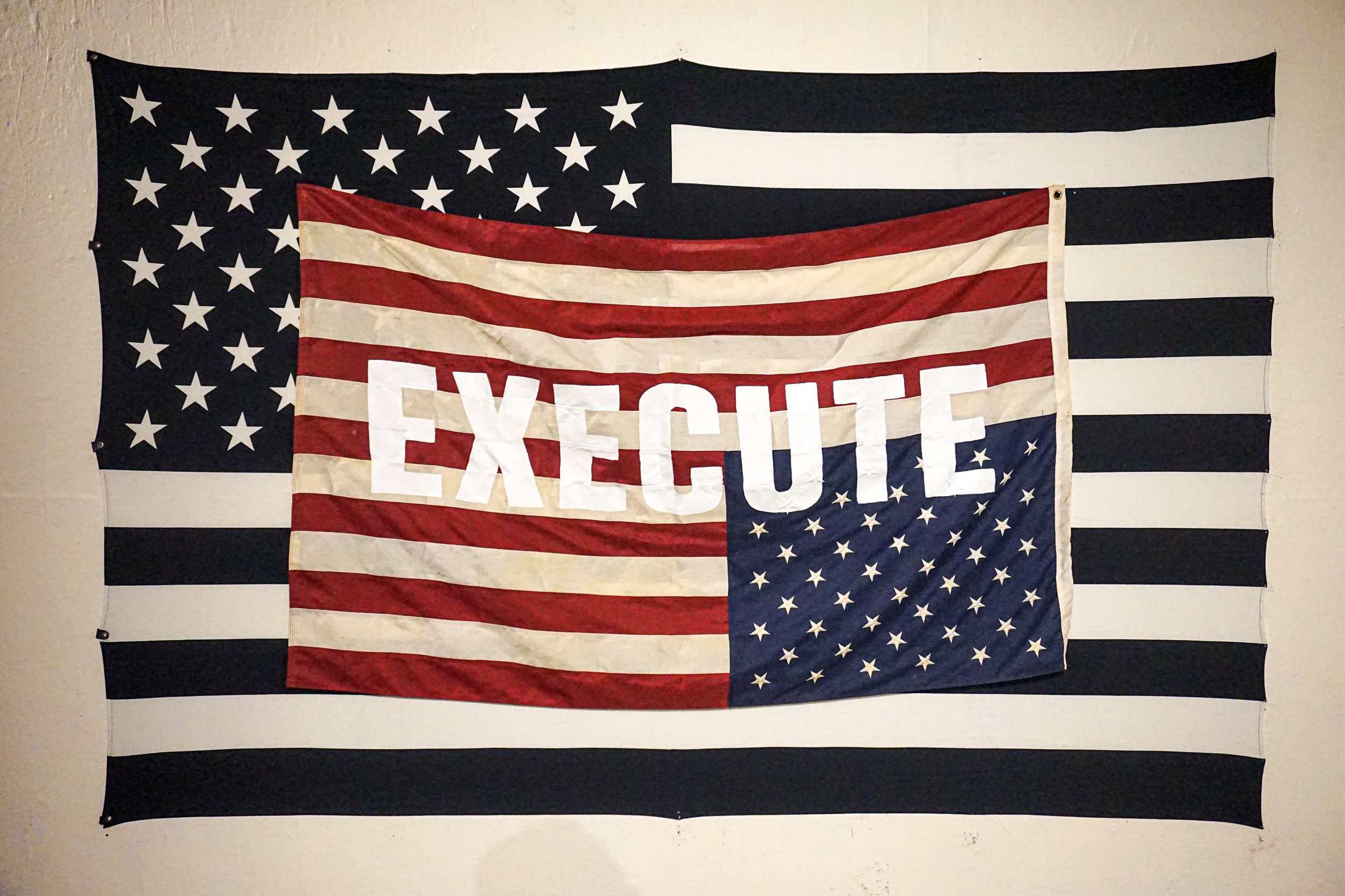 """""""EXECUTE,"""" installation view"""