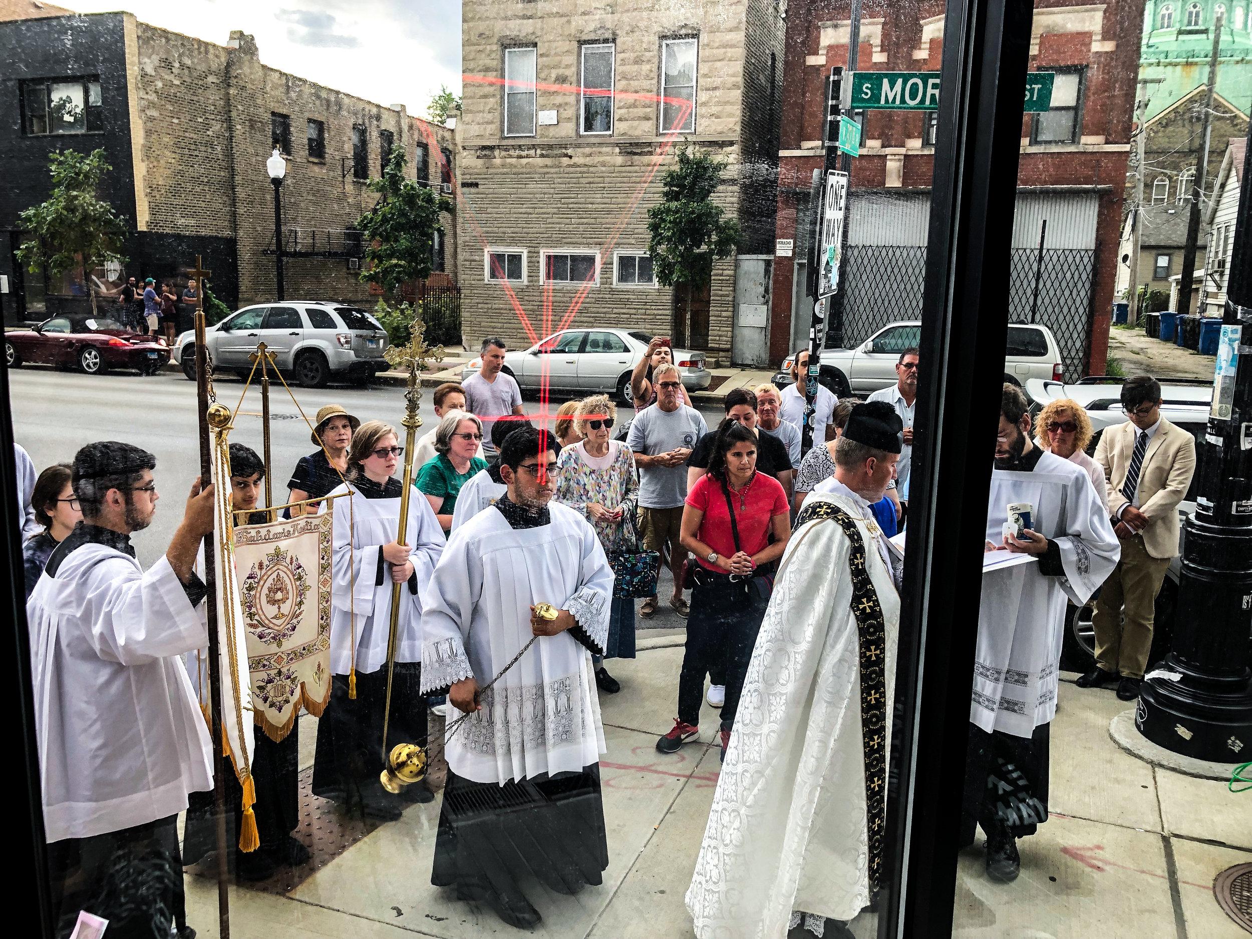 Catholic Church, unannounced protest.
