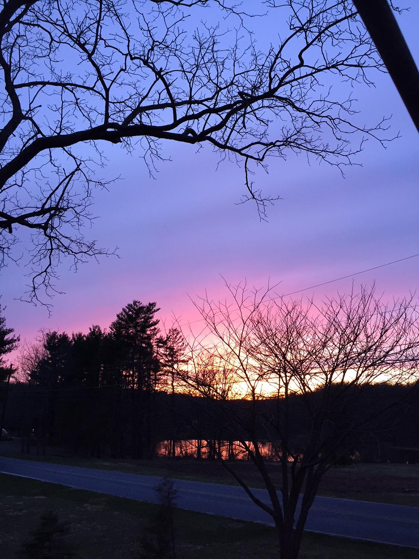 April setting sky