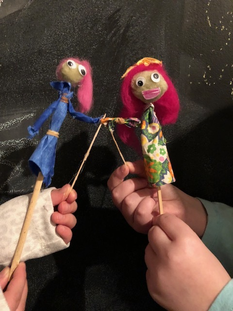 Sophie and Annie the puppets