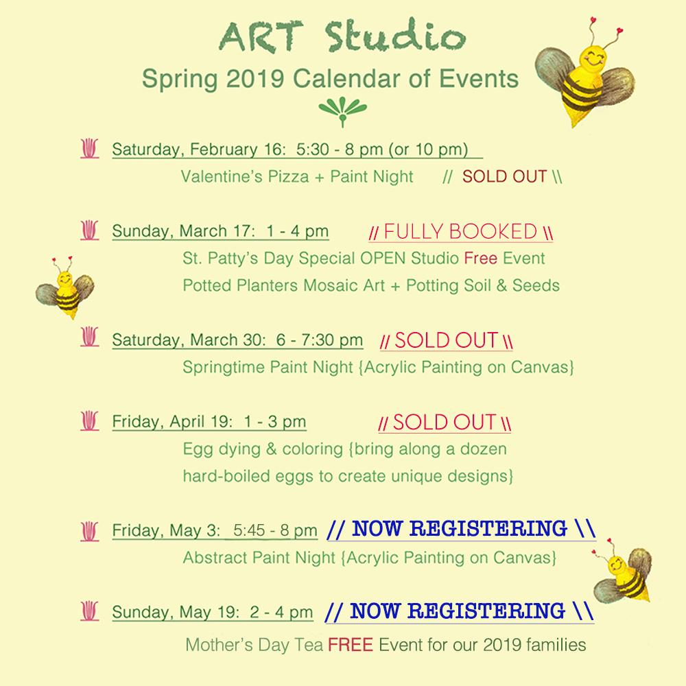 Spring 2019 Calendar of Events