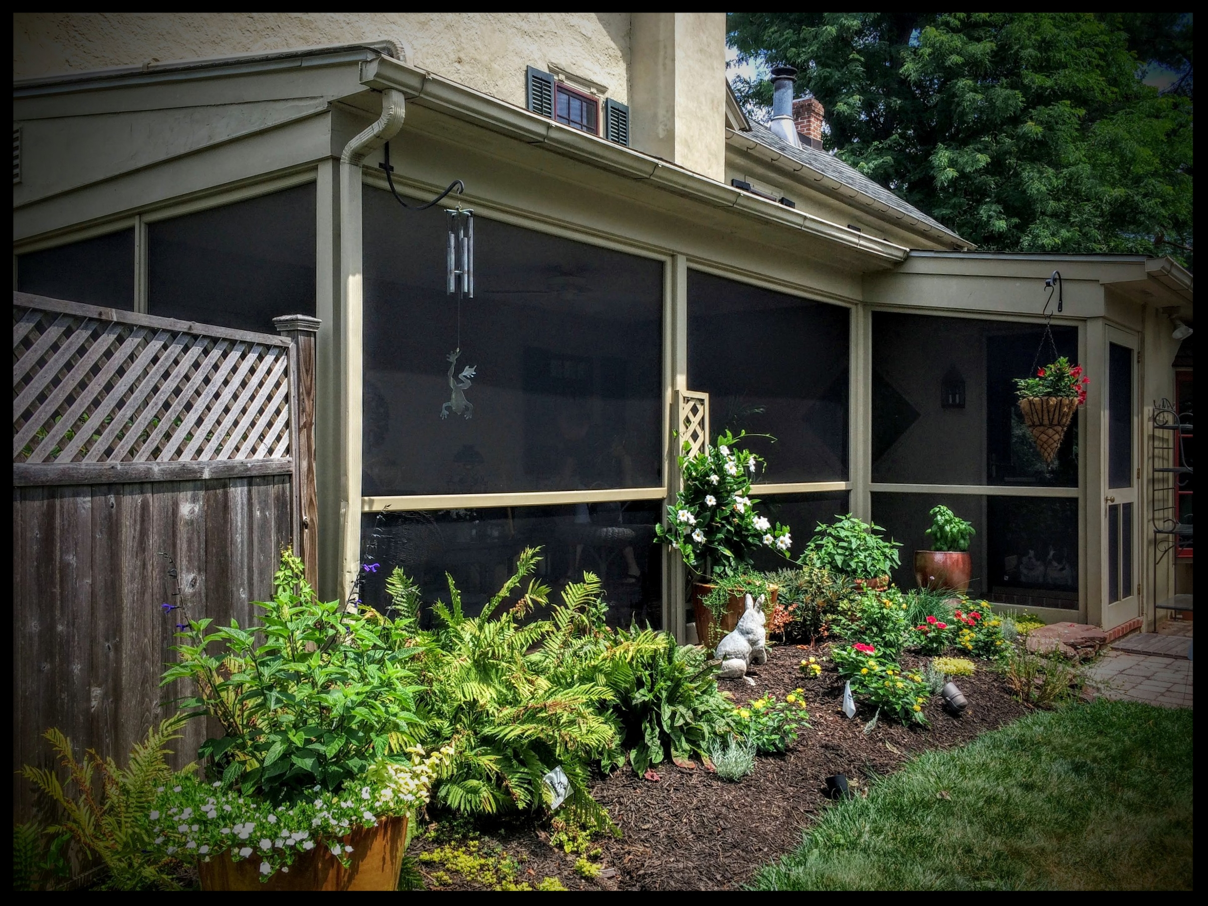 Renue Glass and Screen Repair Garden Patio, Shrubs, & Screen Tight