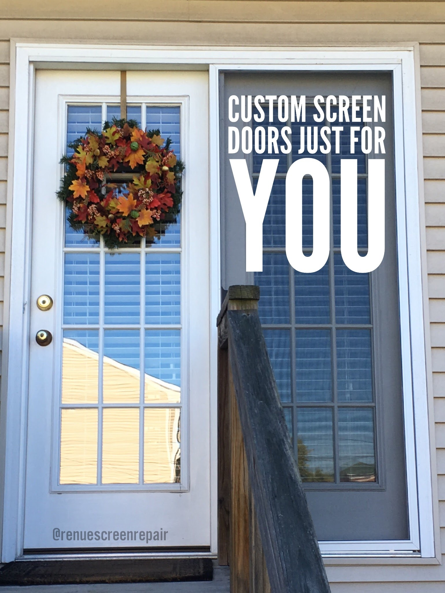 Renue Glass and Screen Repair Custom Slider Screen Door
